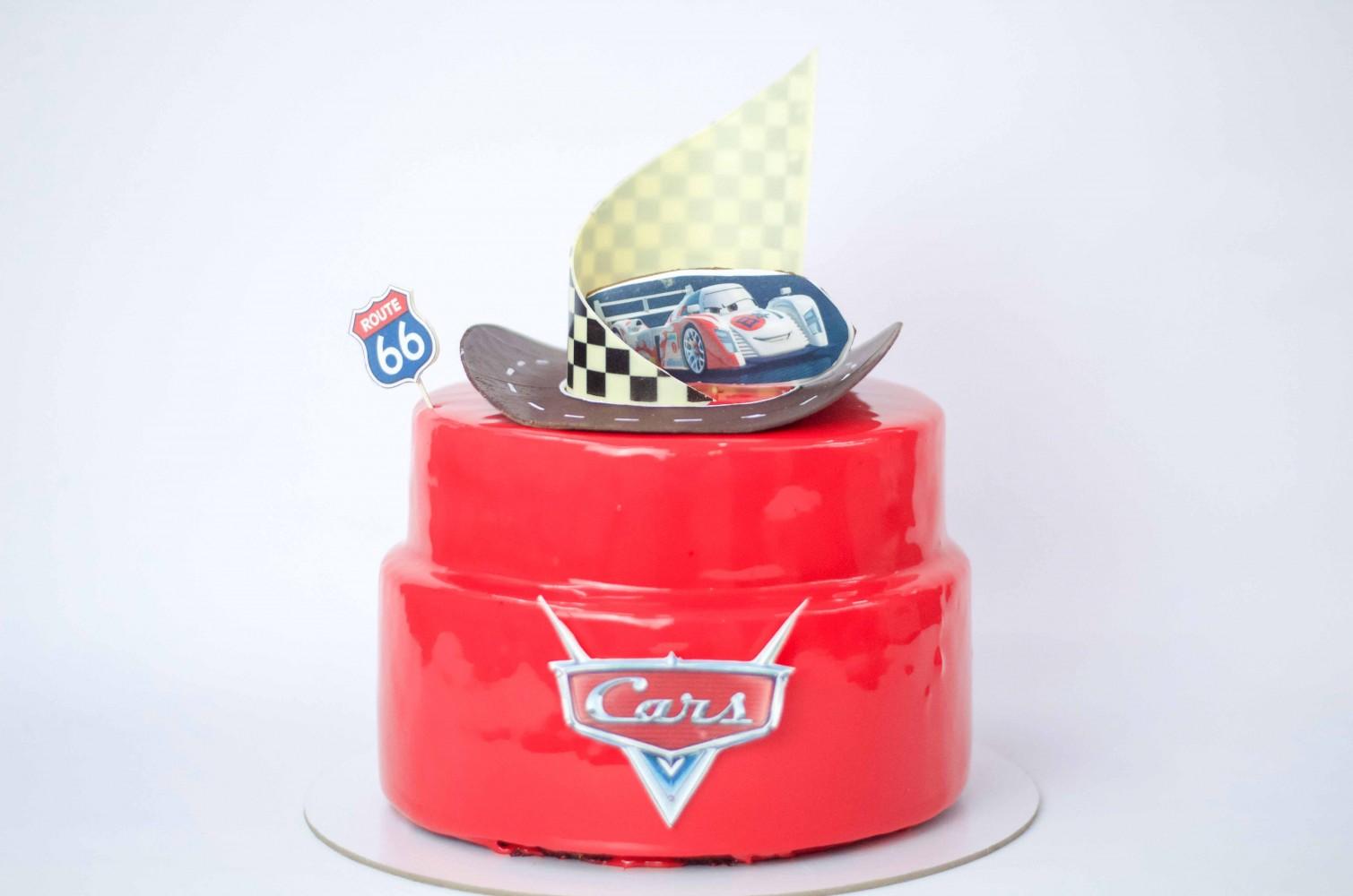 Муссовый торт Тачки
